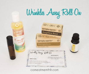 Make your own wrinkle oil from Simply Earth