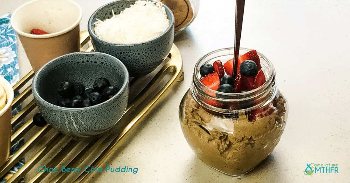 Chocolate and Berry Chia Pudding
