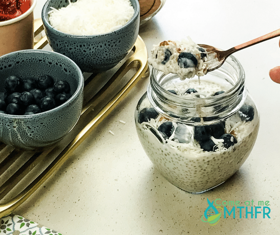 Chia Pudding with Cinnamon and Blueberries